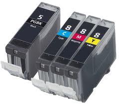 Multipack 4ks Canon CLI-8 / PGI-5 - kompatibilní - včetně čipu